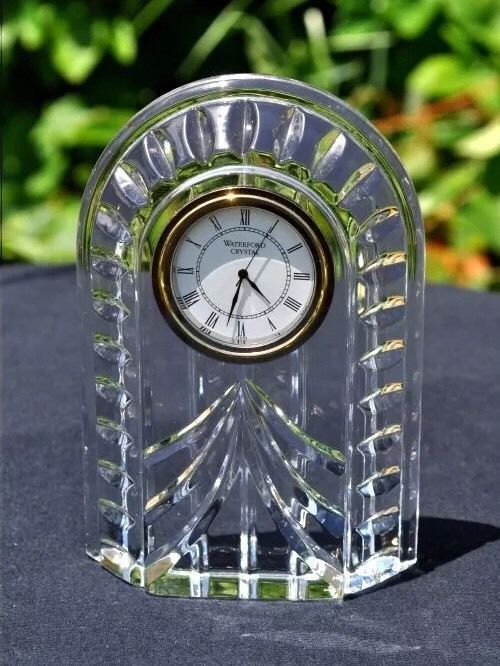 """WATERFORD CRYSTAL """"OVERTURE SMALL MANTEL CLOCK"""" NO RESERVE  #WATERFORD"""