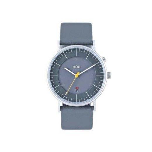 Braun Men's Analog Wrist Watch, Grey 38 mm