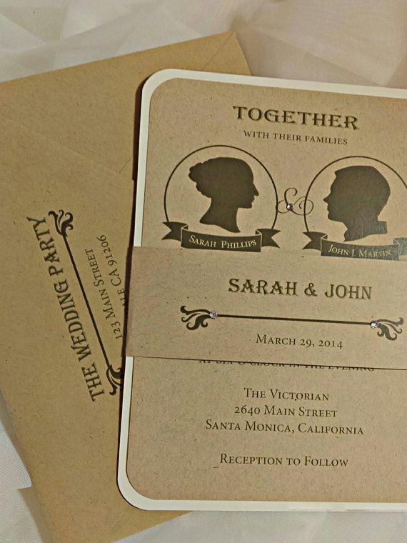 Wedding Invitation Modern Victorian Wedding by AmiraDesign on Etsy, $6.00