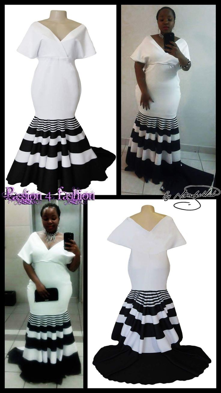 Black and white Xhosa soft mermaid off shoulder matric dance dress with a train. https://goo.gl/lYvxcL Marisela Veludo Passion4Fashion by Marisela Veludo https://goo.gl/qqQoCi #mariselaveludo #passion4fashion #promdress #eveningdress #matric #matricdance #traditionalxhosamatricdress #blackandwhite #mermaid