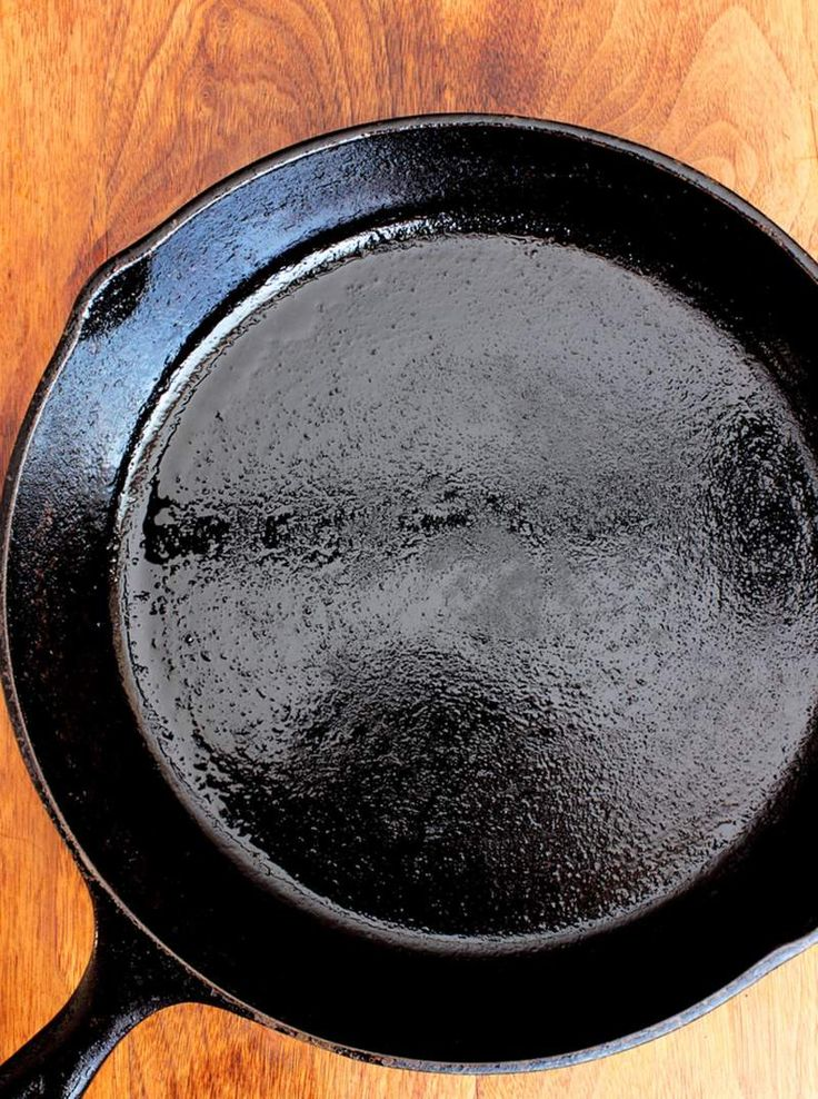Before you use your brand new cast iron skillet, you have to season it. Here is a method that works on both new and vintage cookware