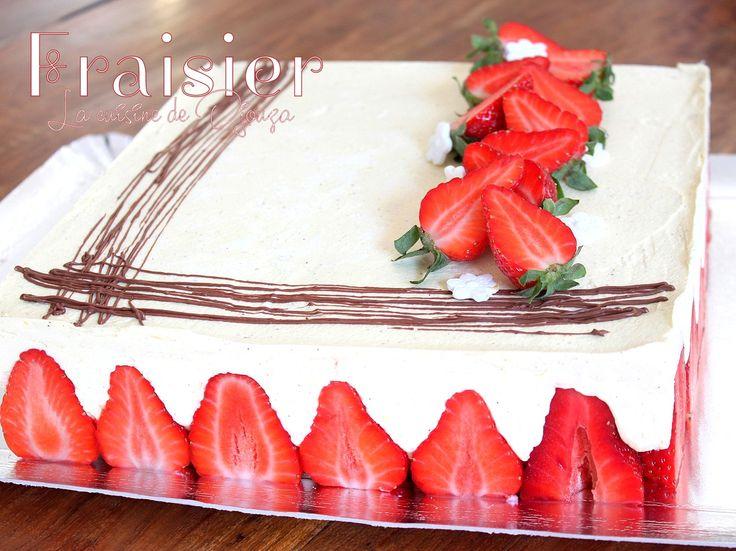 Recette du fraisier facile à la crème mousseline bien délicieux gourmand. Un gâteau d'anniversaire aux fraises classique et simple à réaliser en suivant