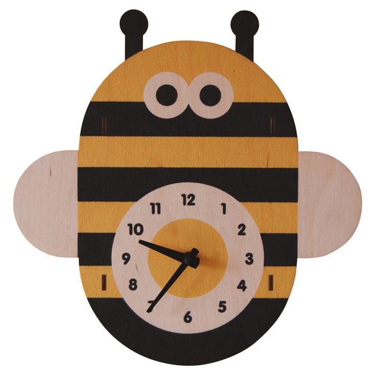 Bee Clock - so cute! Great in kids room or classroom!