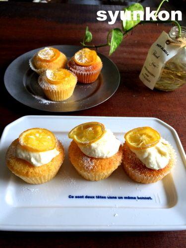 【簡単!!お菓子】しっとりふわふわ*レモンクリームのカップケーキ | 山本ゆりオフィシャルブログ「含み笑いのカフェごはん『syunkon』」Powered by Ameba