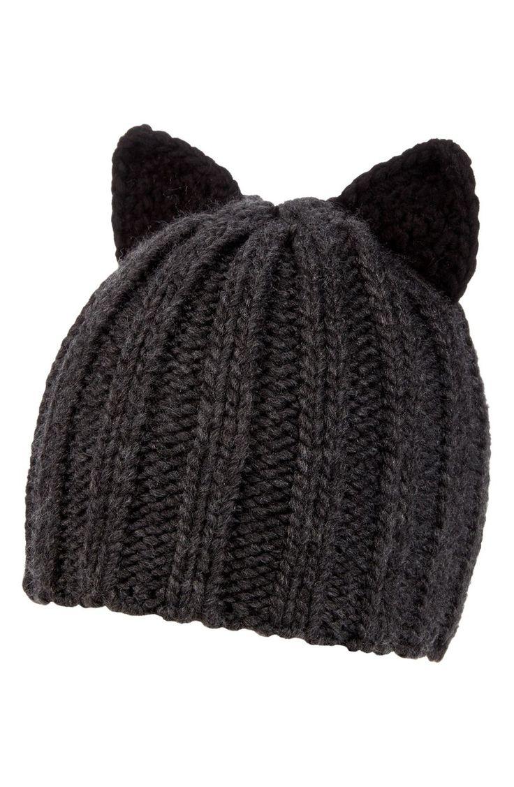 Perky little cat ears add feline style to this classic beanie woven from a cozy wool blend.