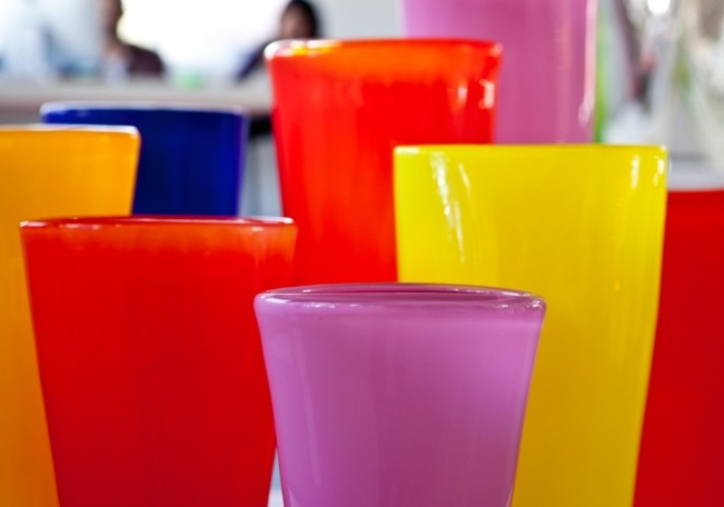 Coloured Vases for Spring! Available at Mark Douglass Design Showroom