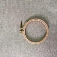 1 pz Dia7.5cm Mini Ricamo Del Cerchio Del Cerchio Rotondo In Legno Cornice, Arte, Artigianato FAI DA TE Punto Croce