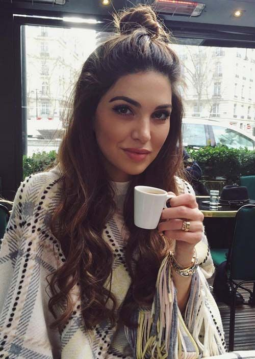 100 Trendy Long Hairstyles for Women: Half Up Top Knot
