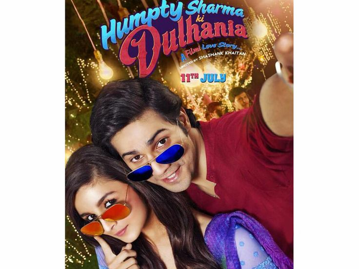 """The first look poster of upcoming movie """"Humpty Sharma Ki Dulhania"""" has been released. The poster cashes on the 'selfie' craze, with Varun Dhawan and Alia Bhatt posing for a 'humphie'. This movie is coming in theaters on 11th July 2014."""