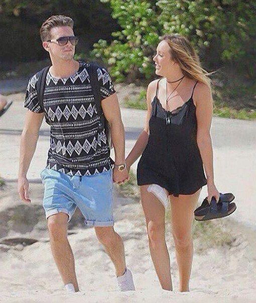 Hand in hand on the beach