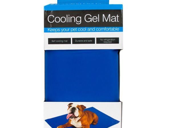 Large Pet Cooling Gel Mat, 2 - Great for the hot summer months, pets can cool off easily with this comfortable Large Pet Cooling Gel Mat featuring a tough, durable mat that contains a non-toxic cooling gel that doesn't require water or refrigeration to activate. This self-cooling mat works by absorbing body heat and dissipating it back into the air. The mat is cool to the touch but cools further with the pressure of your pet laying on it. This is better for your pet than laying on a cool…