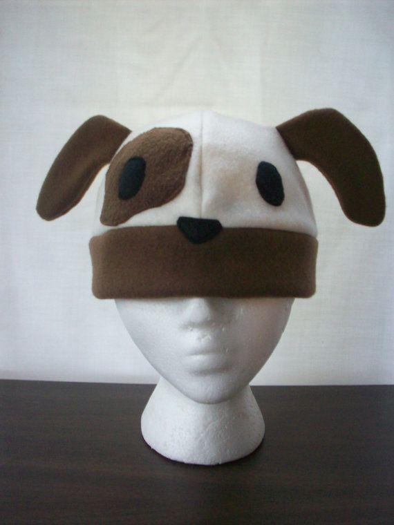 Fleece Puppy Dog Hat | Sewing | Fleece crafts, Hats ...