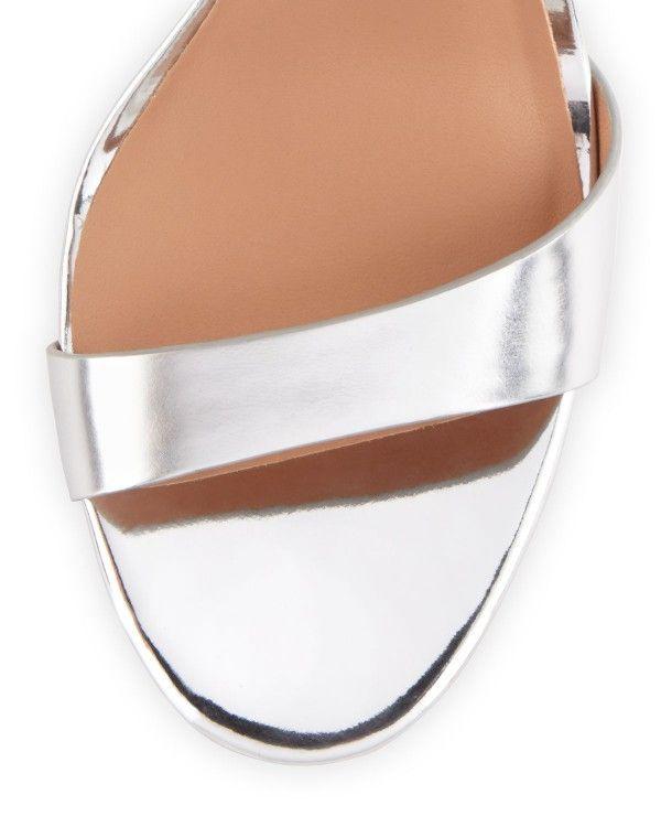 Halston Heritage - Ainsley Mirrored-Leather Sandal