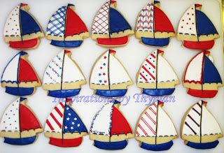 Inspirations by Thyjuan LLC.: Sailboat Cookies