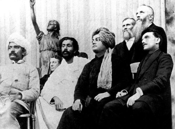 Swami Vivekanand ji Maharaj at the Parliament of the World's Religion, Chicago (1893).