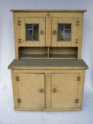 Vintage Child's Stepback Cupboard