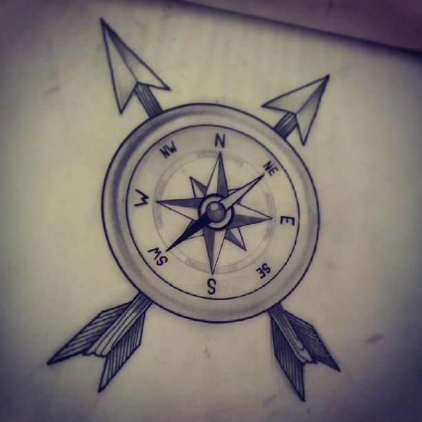compass neo traditional illustration b/w | TATTOO ...
