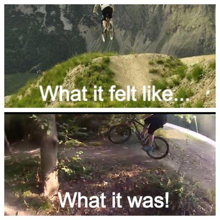 Mountain bike jump -- hahaha -- totally me!!!