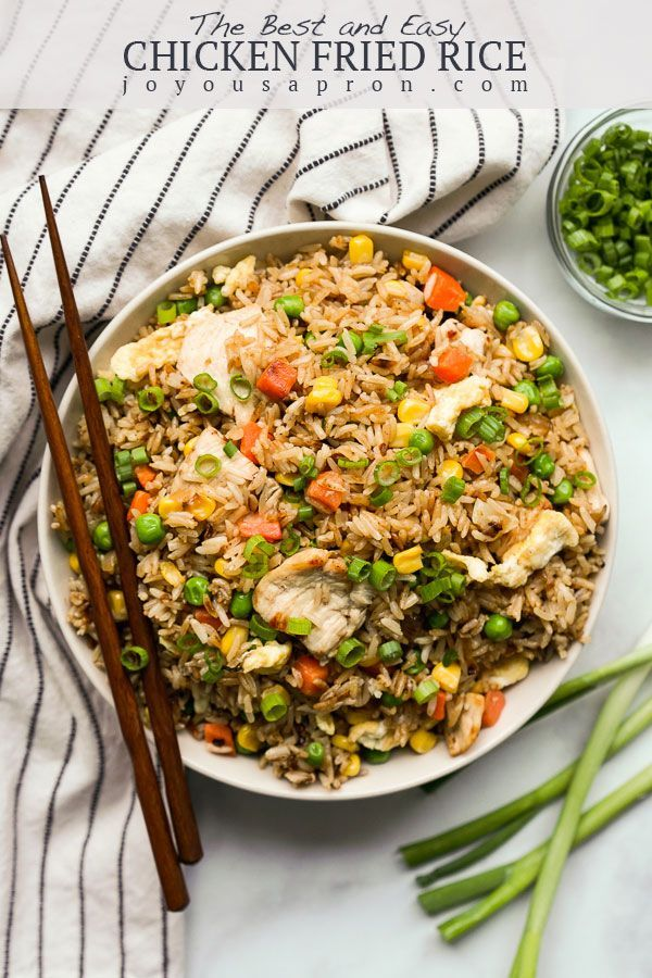 Easy Chicken Fried Rice The Best Fried Rice Recipe Joyous Apron Recipe Fried Rice Best Fried Rice Recipe Chicken Fried Rice Easy