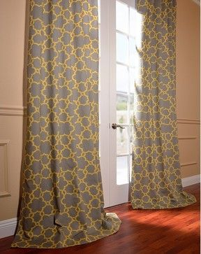 Marabella Printed Cotton Curtain - contemporary - curtains - Half Price Drapes