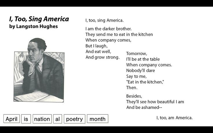 "essays on i too by langston hughes Response to langston hughes' poem i, too, sing america essay 736 words 3 pages show more hughes, langston ""i too the poem negro by langston hughes essays."
