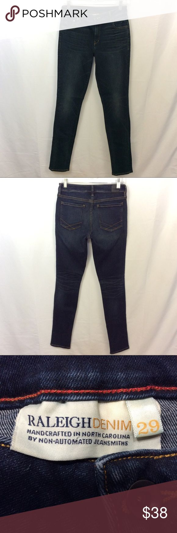 Raleigh Denim Women's Surry Dark Wash Jeans 29 # In excellent preowned condition. Raliegh Jeans Skinny