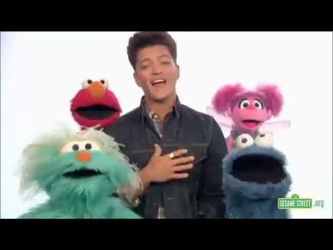 ♥ Bruno Mars on Sesame Street - Don't Give Up  ♥ would be good when teaching stamina for book boxes