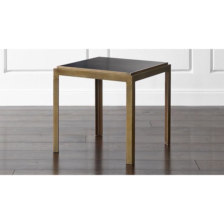 Shop Pascal Bunching Table. Inset with a recessed top of black-coated steel, the angle iron base achieves its antique glow with a multistep plating process incorporating copper, nickel and brass, finished with a protective, clear lacquer topcoat.