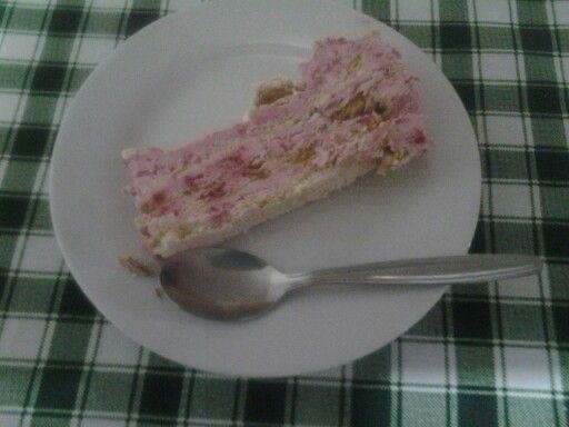 Torta helada de franbuesa Teresa Sanchez