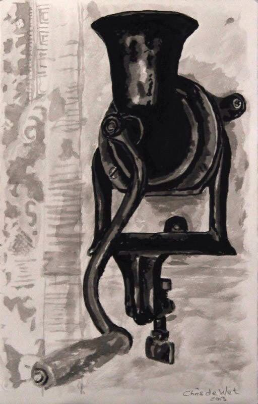 Coffee Grinder - Ink on Fabriano