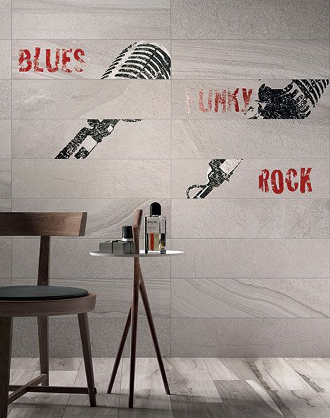 Multi Fog - a range by Italian Tile Manufacturer ABK with a stone patchwork feel.