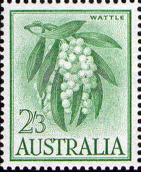 Wattle 2/3d. on White Paper -- Issued 28th October 1964.