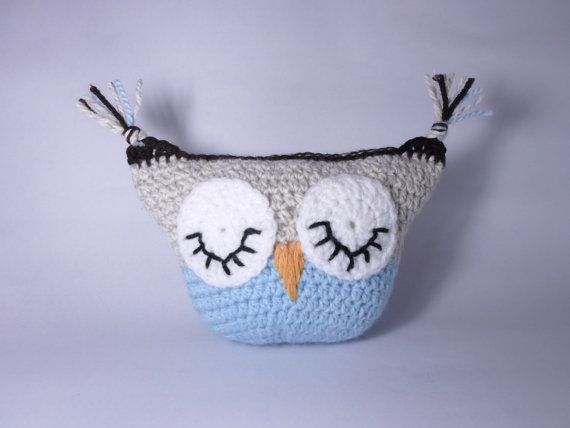 Owl Mini Pillow Crochet