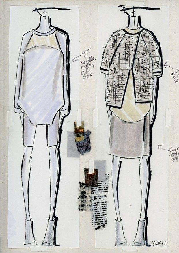 Fashion Sketchbook - fashion design sketches; fashion student portfolio // Sarah Conlon More