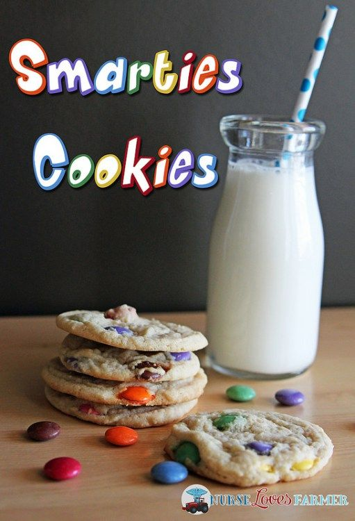 Smarties Cookies. My favourite childhood cookie that you will love too! A simple, sugary cookie dough laced with candy coated milk chocolate candies --- Smarties!
