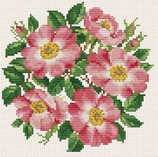 wild rose flower stitch Пои�к в google patterns