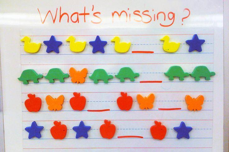 Mrs. Ricca's Kindergarten: Patterns & Math Stations Lots of Pattern ideas