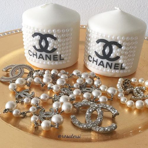 Coco Chanel Candles decoration