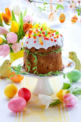 #Easter #cake w/ colorful gum drops