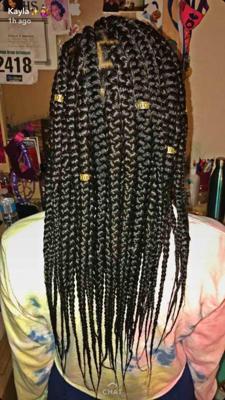 medium length & medium sized box braids