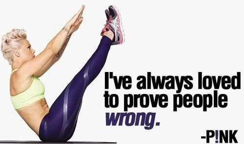 P!nk quote; Fitness