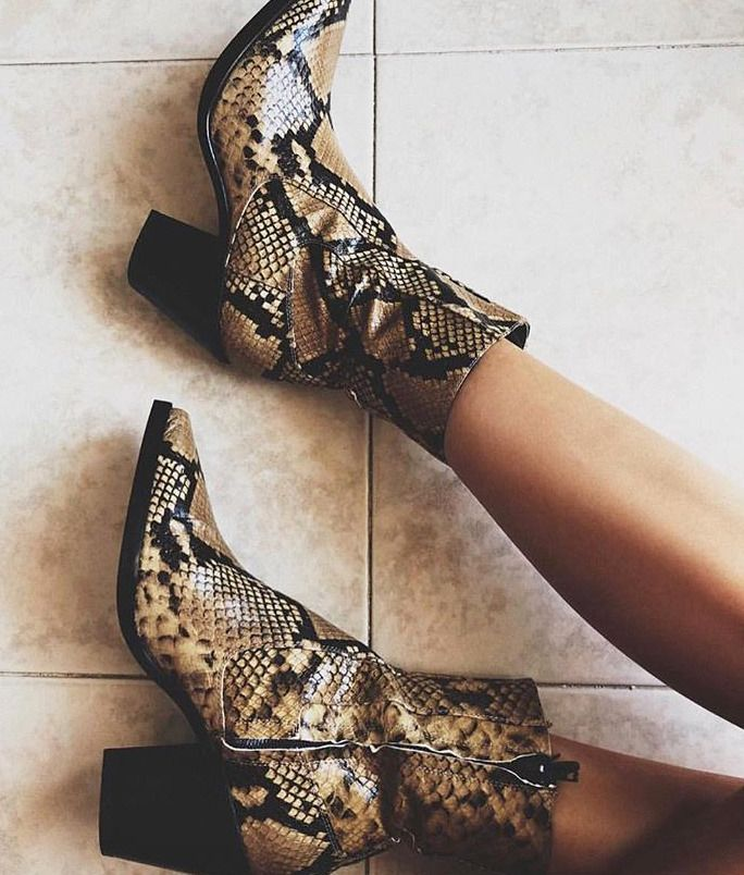 0deeff9bb85 ZARA WOMAN NEW AW18 SNAKE COWBOY LEATHER HEELED ANKLE BOOTS 6167 301   fashion  clothing  shoes  accessories  womensshoes  boots (ebay link)
