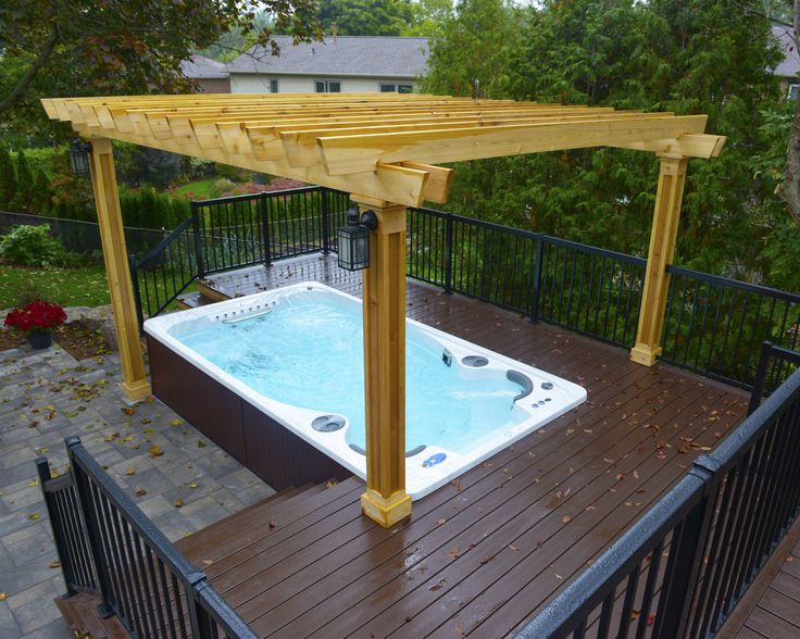 Hydropool Self Cleaning Swim Spa Installed Into A Deck