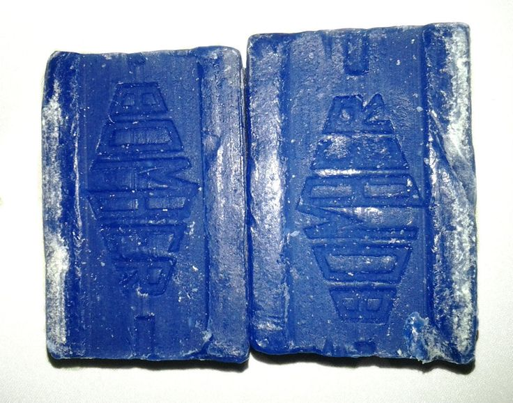 100% Blue Bomber Washing Blue Jamaican Favourite Cake Soap 6 Bars (Pack of 6) #BluBomber