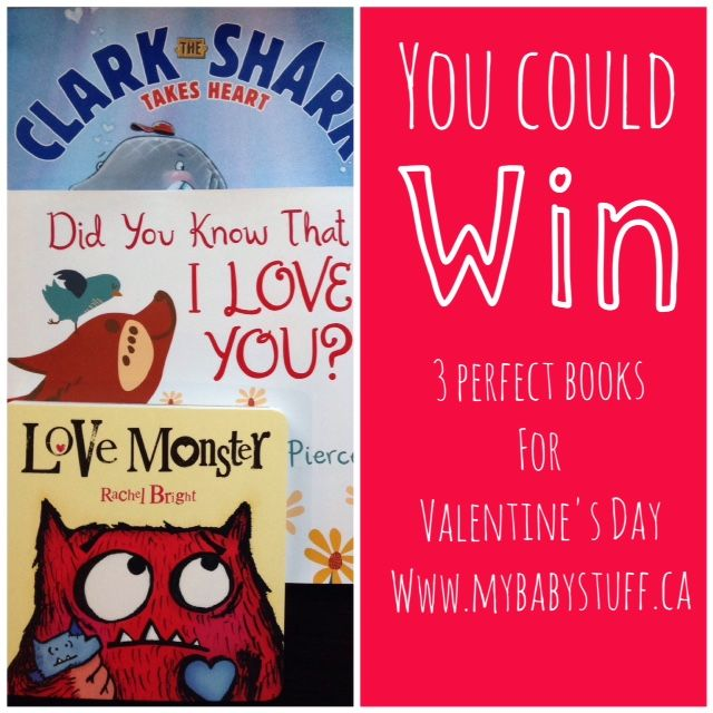 Enter to WIN 3 kids Valentine's Day books from Harper Collins now. Canada Only.