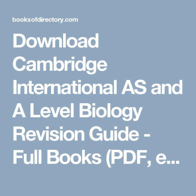 Cambridge o level Biology revision guide download