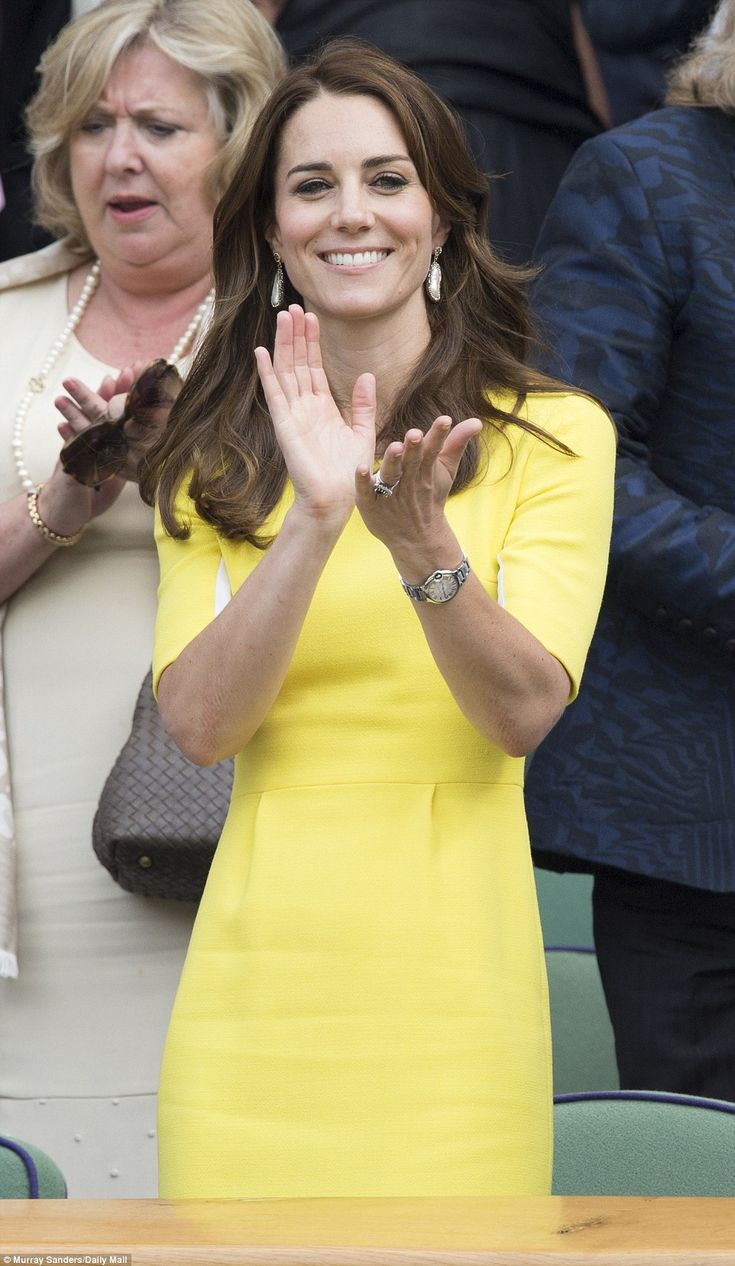 Round of applause: Earlier in the day Kate told Serena Williams' mother Oracence Price she...