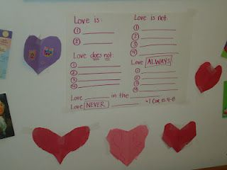 Teaching Kids 1 Corinthians 13:4-8 (stole this idea from a friend's blog, SGM...hope you don't mind!)
