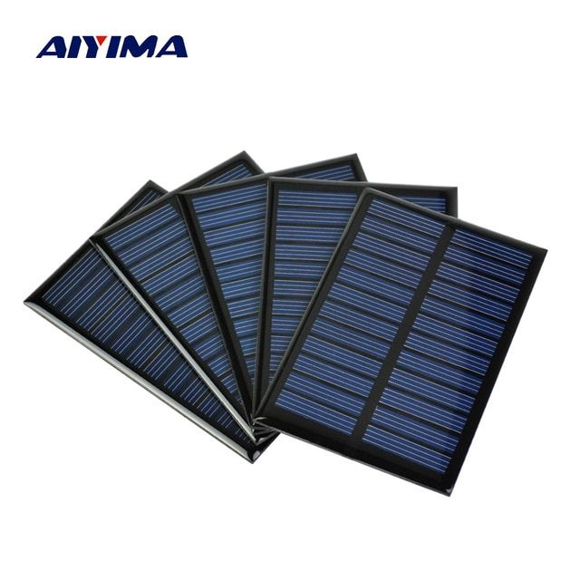 Aiyima 5pcs 6v 100ma 0 6w Solar Panel A Grade Polycrystalline Silicon Solar Charger The Phone Charger Solar Energy Panels Photovoltaic Cells Best Solar Panels