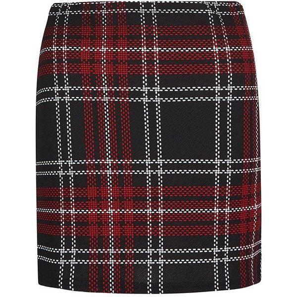Black Textured Check Tube Skirt (22,570 KRW) ❤ liked on Polyvore featuring skirts, black mini skirt, checkered skirt, mini skirt, black tube skirt et checkerboard skirt